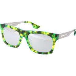 """Okulary przeciwsłoneczne męskie aviatory: Okulary przeciwsłoneczne """"0018/S RL3/SS"""" w kolorze limonkowym"""
