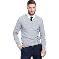 Sweter FABRIZIO SWPR000110. Szare swetry klasyczne męskie Giacomo Conti, m, z materiału. Za 229,00 zł.