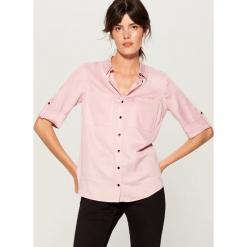 Koszula z podwijanymi mankietami - Różowy. Czerwone koszule damskie marki Mohito, z bawełny. Za 99,99 zł.
