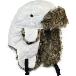 Czapka damska Uszanka Dama pik biało-brązowa. Białe czapki zimowe damskie Art of Polo. Za 37,60 zł.