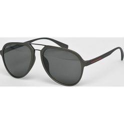 Medicine - Okulary Monumental. Okulary przeciwsłoneczne męskie aviatory MEDICINE, z materiału. W wyprzedaży za 14,90 zł.