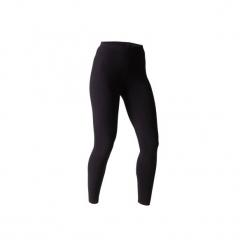 Legginsy slim Gym & Pilates 100 Stretch damskie. Czarne legginsy damskie do fitnessu DOMYOS, l, z bawełny. Za 19,99 zł.