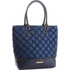 Torebka MONNARI - BAGB300-013 Navy. Niebieskie torebki klasyczne damskie Monnari, z materiału. W wyprzedaży za 199,00 zł.