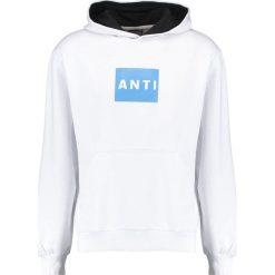 Bejsbolówki męskie: Antioch ANTI SQUARE PRINT Bluza z kapturem white