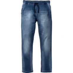 """Dżinsy dresowe Regular Fit Straight bonprix niebieski """"used"""". Czarne jeansy męskie regular marki bonprix. Za 109,99 zł."""