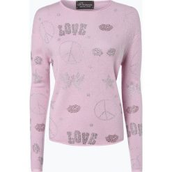 Swetry klasyczne damskie: Princess GOES HOLLYWOOD – Sweter damski z dodatkiem kaszmiru, różowy