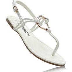 Sandały japonki bonprix biały. Białe klapki damskie bonprix. Za 59,99 zł.