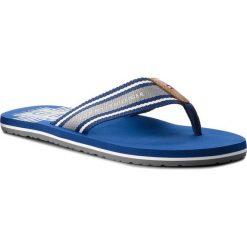 Japonki TOMMY HILFIGER - Th Print Beach Sandal FM0FM01799  Monaco Blue 408. Niebieskie japonki męskie TOMMY HILFIGER, z materiału. Za 159,00 zł.