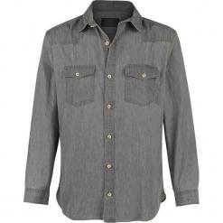 Produkt Next Western Shirt Koszula szary. Czarne koszule męskie na spinki marki Leonardo Carbone, s, z materiału, z długim rękawem. Za 109,90 zł.