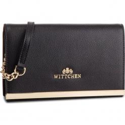Torebka WITTCHEN - 87-4E-440-1 Czarny. Czarne torebki klasyczne damskie marki Wittchen, ze skóry. W wyprzedaży za 299,00 zł.