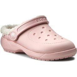 Kapcie CROCS - Colorlite Lined Clog K 16196 Pearl Pink/Oatmeal. Czerwone kapcie dziewczęce Crocs, z syntetyku. Za 119,00 zł.