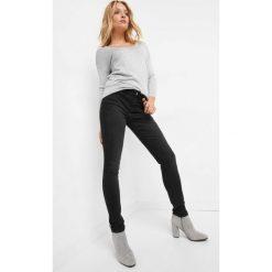 Jeansy skinny. Brązowe jeansy damskie skinny marki Orsay, s, z dzianiny. Za 89,99 zł.