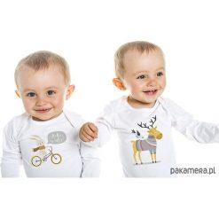Pajacyki niemowlęce: zestaw: body dla dziecka. Łoś i zając