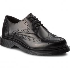 Oxfordy BRONX - 66201-M BX 571 Black 01. Czarne jazzówki damskie marki Bronx, z materiału. Za 520,00 zł.