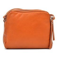 Torebki klasyczne damskie: Skórzana torebka w kolorze jasnobrązowym – (S)20 x (W)22 x (G)9 cm