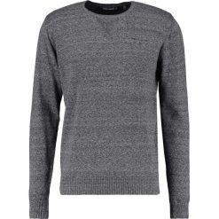 Swetry klasyczne męskie: Teddy Smith PLAY MOULINE Sweter gris chine moyen
