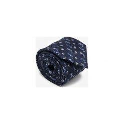 KRAWAT FOOTBALLERS NAVY. Niebieskie krawaty męskie Marthu, klasyczne. Za 129,00 zł.
