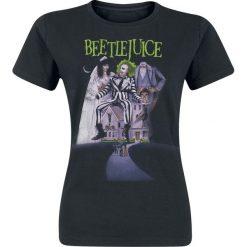 Beetlejuice Poster Koszulka damska czarny. Czarne bluzki z odkrytymi ramionami marki Beetlejuice, s, z nadrukiem, z okrągłym kołnierzem. Za 54,90 zł.