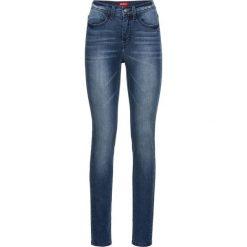 Bardzo miękkie dżinsy SKINNY bonprix ciemnoniebieski. Niebieskie jeansy damskie skinny marki House, z jeansu. Za 139,99 zł.