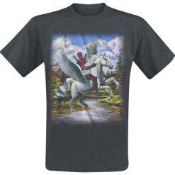 Deadpool Paints T-Shirt odcienie szarego. Szare t-shirty męskie z nadrukiem Deadpool, l, z okrągłym kołnierzem. Za 54,90 zł.