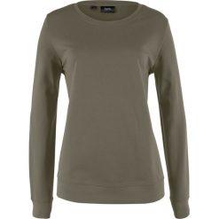 Bluzy damskie: Bluza dresowa bonprix ciemnooliwkowy