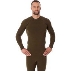 Bluzy męskie: Brubeck Bluza męska Thermo z długim rękawem khaki r. XXL (LS13040)