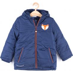 Kurtka. Niebieskie kurtki chłopięce przeciwdeszczowe FOX, z aplikacjami, z poliesteru. Za 129,90 zł.