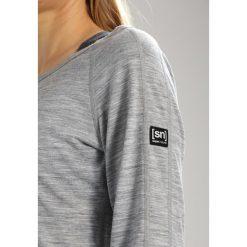Super.natural ESSENTIAL SCOOP NECK Bluzka z długim rękawem ash melange. Szare bluzki asymetryczne super.natural, s, z materiału, z długim rękawem. Za 299,00 zł.