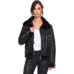 """Kurtka """"Johnny"""" w kolorze czarnym. Czarne kurtki damskie marki Cosy Winter, s, ze skóry. W wyprzedaży za 272,95 zł."""