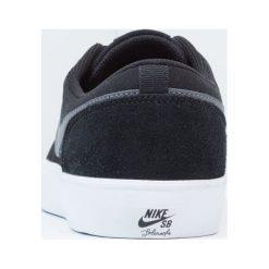 Nike SB SOLARSOFT PORTMORE II Tenisówki i Trampki black/dark grey/white. Czarne trampki męskie Nike SB, z materiału. Za 299,00 zł.