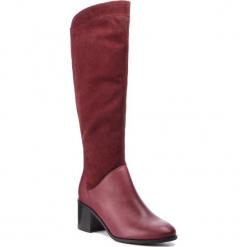 Kozaki SERGIO BARDI - Fiave FW127361318DP  634. Czerwone kowbojki damskie Sergio Bardi, z materiału, przed kolano, na wysokim obcasie, na obcasie. Za 429,00 zł.