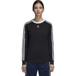 Koszulka adidas W 3-Stripes L/S (DH3183). Czarne bluzki z odkrytymi ramionami Adidas, l, z bawełny, z długim rękawem. Za 139,99 zł.