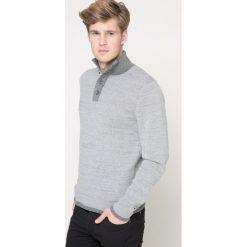 Tommy Hilfiger - Sweter. Szare swetry klasyczne męskie TOMMY HILFIGER, l, z bawełny. W wyprzedaży za 359,90 zł.
