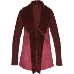 Sweter rozpinany ze sztucznym futerkiem bonprix czerwony klonowy. Szare kardigany damskie marki Mohito, l. Za 109,99 zł.