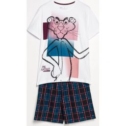 Piżama z szortami Różowa Pantera - Bordowy. Czerwone piżamy męskie Reserved, l, z motywem zwierzęcym. Za 79,99 zł.