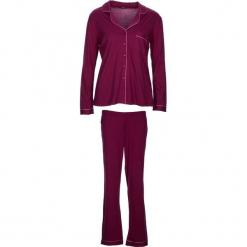 """Piżama """"Classy Dreams"""" w kolorze ciemnofioletowym. Białe piżamy damskie marki LASCANA, w koronkowe wzory, z koronki. W wyprzedaży za 136,95 zł."""