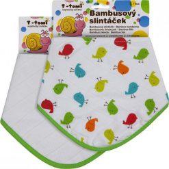 T-Tomi Bambusowe Śliniaczki, Ptaszki + Biały, 2 Szt. Białe śliniaki T-Tomi, z tkaniny. W wyprzedaży za 35,00 zł.