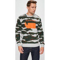 G-Star Raw - Bluza. Szare bluzy męskie rozpinane marki G-Star RAW, l, z nadrukiem, z bawełny, bez kaptura. W wyprzedaży za 369,90 zł.
