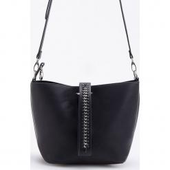 Torba typu worek z odpinanym paskiem - Czarny. Białe torebki klasyczne damskie marki Reserved, l, z dzianiny. Za 129,99 zł.