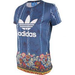 Koszulka sportowa damska ADIDAS CIRANDEIRA TEE / AY6900. Szare topy sportowe damskie adidas Originals, z nadrukiem. Za 85,00 zł.