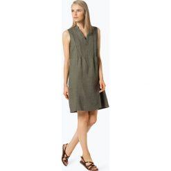 Apriori - Lniana sukienka damska, zielony. Niebieskie sukienki z falbanami marki Apriori, l. Za 229,95 zł.