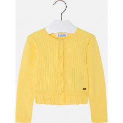 Mayoral - Kardigan dziecięcy 98-134 cm. Żółte swetry dziewczęce Mayoral, z bawełny. Za 114,90 zł.