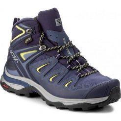 Buty trekkingowe damskie: Salomon Buty damskie X Ultra 3 Mid GTX W Crown Blue/Evening Blue/Sunny Lime r. 40 2/3 (398691)