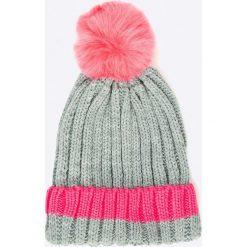 Answear - Czapka. Szare czapki zimowe damskie marki ANSWEAR, na zimę, z dzianiny. W wyprzedaży za 14,90 zł.