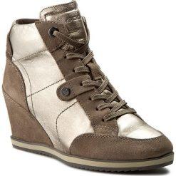 Sneakersy GEOX - D Illusion A D4454A 0KY22 CB5Q6 Champagne/Taupe. Brązowe sneakersy damskie Geox, ze skóry. W wyprzedaży za 309,00 zł.