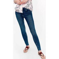 Spodnie damskie: DENIMOWE SPODNIE DŁUGIE DAMSKIE, RURKI, GŁADKIE