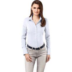 Bluzka w kolorze błękitnym. Niebieskie topy sportowe damskie Vincenzo Boretti, z bawełny, z klasycznym kołnierzykiem, z długim rękawem. W wyprzedaży za 339,95 zł.