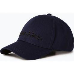Calvin Klein - Męska czapka z daszkiem, niebieski. Niebieskie czapki z daszkiem męskie Calvin Klein, z napisami, klasyczne. Za 179,95 zł.