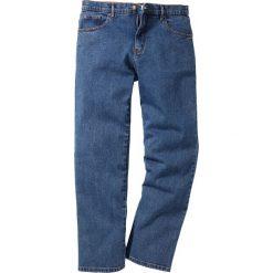 Dżinsy Classic Fit Straight bonprix niebieski. Czarne jeansy męskie relaxed fit marki bonprix. Za 89,99 zł.