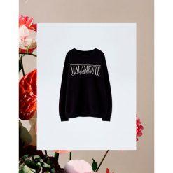 """Bluza """"Malamente"""" Pull&Bear by Rosalía. Czarne bluzy damskie Pull&Bear. Za 99,90 zł."""